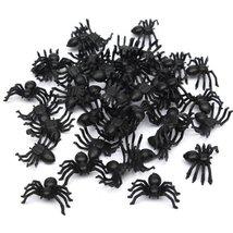 Useful 50pcs 2*1.4cm Plastic Black Spider Halloween Decoration Festival ... - €1,42 EUR+