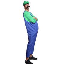 Mens Super Mario Luigi Bros Fancy Dress Workman Plumber Uniform Gloves M... - $19.66