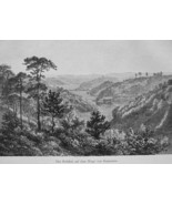 JAPAN Valley Road from Kanazawa - 1882 Wood Engraving - $12.60