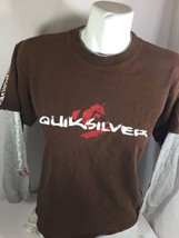 Qhilsilver Kids Brown Long Sleev Shirt Gray Sleeves Classic Neck Comfy Bin12#29 - $11.30