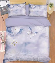 3D Butterflies 2 Bed Pillowcases Quilt Duvet Cover Set Single Queen King Size AU - $90.04+