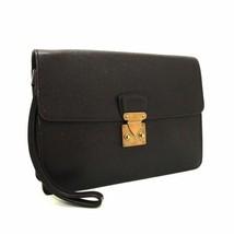 Authentic Louis Vuitton Vintage Brown Taiga Kourad Acajou Leather Clutch Handbag - $164.77