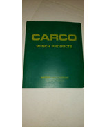 Carco 80-PS PSM PSC Winch Operator's , Service & Parts Manual for Cat D7G - $39.74