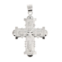 Sterling Silver Hollow Back Medieval Cross Charm - $6.80
