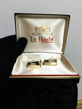 Deadstock 1960's Glossy Gold Cufflinks by La Mode, Cufflinks Steampunk, ... - $27.99