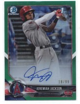 2018 Bowman Draft Chrome Autographs Refractors Green Jeremiah Jackson RC... - $269.99