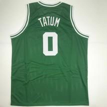 New JAYSON TATUM Boston Green Custom Stitched Basketball Jersey Size Men... - $49.99