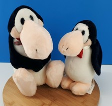"Vintage Dakin Opus Penguin 8"" Plush & 11"" Toy Doll Lot of 2 From 1985 - $28.67"