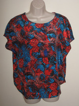 M Notations Womens Summer Short Sleeve Multi-Color Polyester Top - $10.99