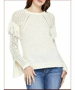 new BCBGeneration women shirt sweater DLE15A06-101 cream off white S MSRP - $38.78