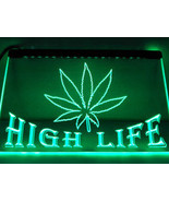La403g hemp leaf high life bar led neon sign.jpg 200x200 thumbtall