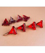 Victorian cufflink set - Elegant Faceted Red stud Cufflinks - Antique Sh... - $165.00