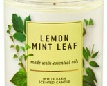 Bath & Body Works Lemon Mint Leaf 1 Wick Scented Candle 7 oz