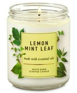 Bath & Body Works Lemon Mint Leaf 1 Wick Scented Candle 7 oz - $18.69