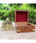 Maritime Nautical Camping Compass With Wooden Box Handmade West London C... - $19.30