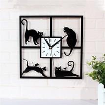 Four Cat Wall Clock - $13.45