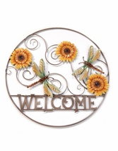 Nature's Conservatory Round Wall Plaque, WELCOME & NATURE - $109.99