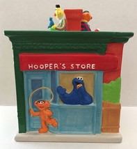 Treasure Craft Sesame Street Mr Hooper's Store Big Bird Grover Cookie Jar - $148.49