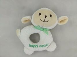 "Happy Easter Lamb Sheep Rattle Plush 5.5"" Prestige Stuffed Animal Toy - $6.95"