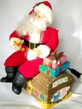 "Holiday Creation VINTAGE Christmas Toy Box Santa Claus 14"" Animated Figure - $53.99"