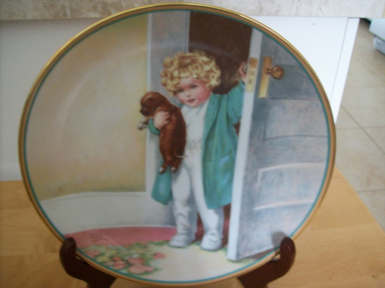 "Hamilton Collection 1986 ""Good Morning"" Collector's Plate"
