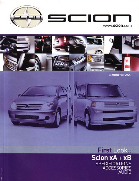 2004 Scion xA xB brochure catalog DEBUT magazine ISSUE 01