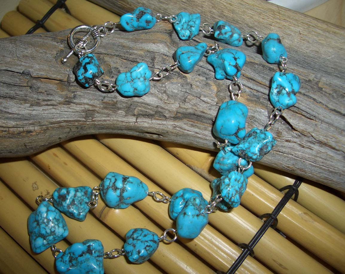 Turquoise rustic necklace