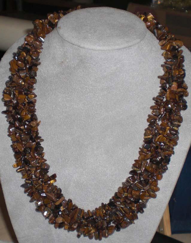 Tiger eyes z553 gem necklace