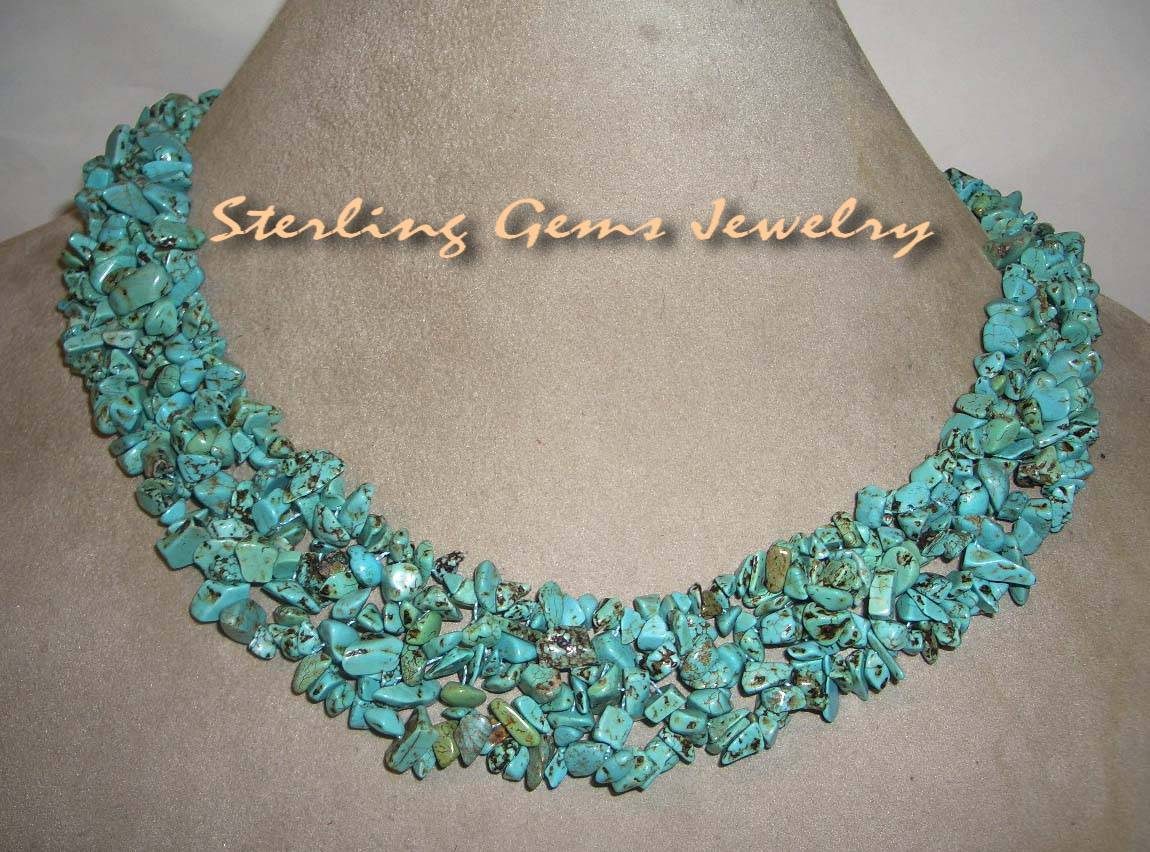 Turquoise z516green necklace