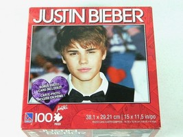 Justin Bieber Bow Tie 100 pc. Puzzle. Brand New Sealed Photo Card Included - $14.80