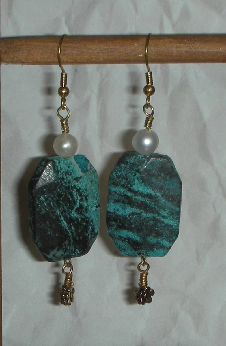 Turquoise pearl brass
