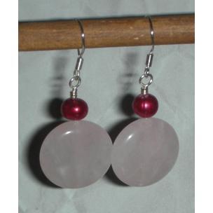 Rose quartz and pearls