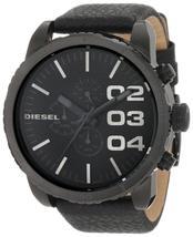 Diesel DZ4216 Black Leather Chronograph Wrist Watch for Men - $145.21 CAD