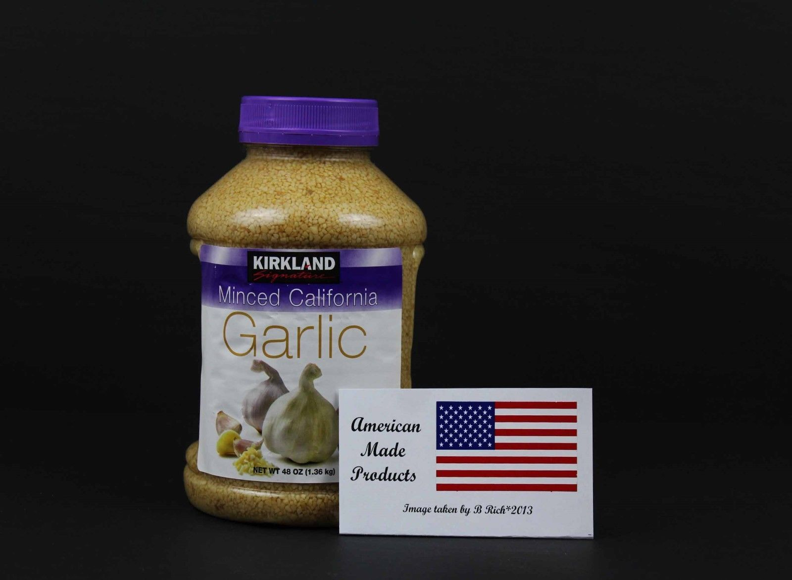Primary image for 2 jars of Kirkland Signature Minced California Garlic, 48 Oz, FREE SHIPPING