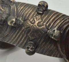Mega rare 18th Century Occultist's Templar Memento Mori Skulls bracelet - $1,050.00