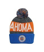 Oklahoma City Men's Winter Knit Landmark Patch Pom Beanie (Blue/Orange) - $13.89