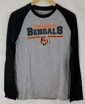 NFL Youth Cincinatti Bengals Vasity Block Long Sleeve Raglan Tee Size L... - $19.79