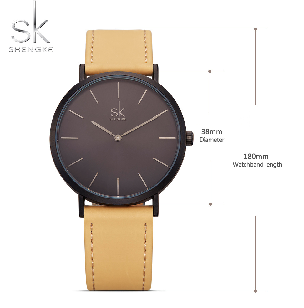 SK® New Fashion Simple Style Top Famous Luxury Brand Quartz Watch for Women