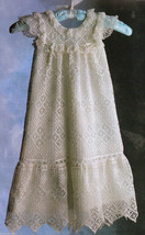 Antique Elegance christening gown pattern to filet crochet for 0-3mo, 3-6mo - $19.66