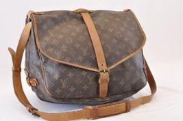 LOUIS VUITTON Monogram Saumur 35 Shoulder Bag M42254 LV Auth 7531 - $210.00