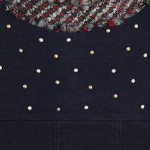 Mayoral Tween Girls 2T-9 Navy-Blue Neoprene And Tweed Trim Social Dress image 3