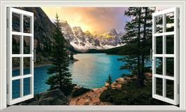 Banff National Park Moraine Lake Canada 3D Magic Window Wall Art Adhesiv... - $15.16+