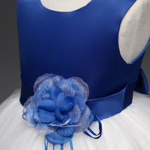 Lovely Royal Blue Wedding Flower Girl Dresses O-Neck Birthday Party Gowns Formal image 5