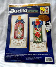 ROSEWATER AND MAGNOLIA BLOSSOM Counted Cross Stitch By Bucilla (4 x 8 IN... - $15.63