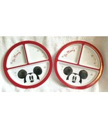 TWO Pottery Barn KIDS DISNEY MICKEY MOUSE HOLIDAY DIVIDED PLATE NWOT MEL... - $19.99