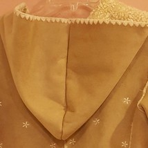 GAP GIRLS FAUX SUEDE BEIGE COAT XXL 14-16 with embroidery image 14