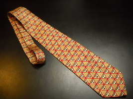 Joseph Abboud JAII Neck Tie Silk Abstract Geometric Designs Tie Made In Italy - $12.99