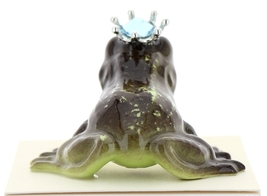 Hagen-Renaker Miniature Frog Prince Kissing Birthstone 03 March Aquamarine image 3