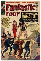 Fantastic Four #19 1963 Rama-Tut Kirby High Grade Marvel VF - $634.38