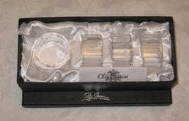 Oleg Cassini Crystal Napkin Rings Set 4 Betsey BNIB - $24.99